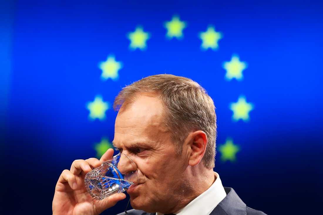 EU:s permanente rådsordförande Donald Tusk leder jakten på vem som ska sitta på vilken toppost i EU framöver. Arkivbild.