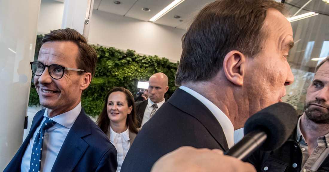 De avgör årets val: Moderaternas och Socialdemokraternas partiledare Ulf Kristersson och Stefan Löfven.