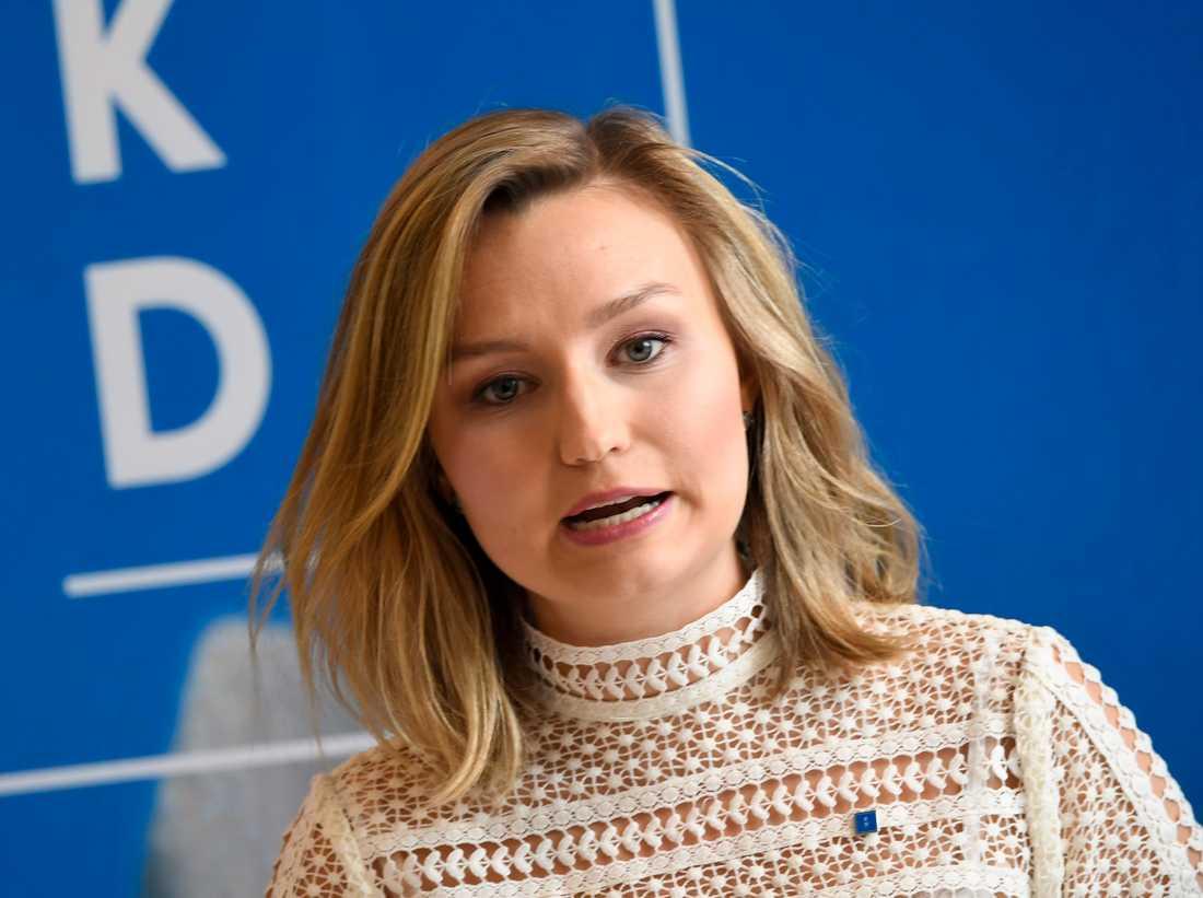 KD:s partiledare Ebba Busch Thor