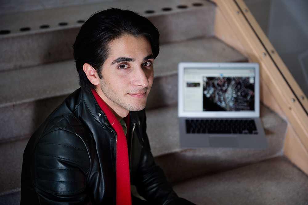 Hevar Magron som är en IT–student kan följa datortjuven och se vad han gör