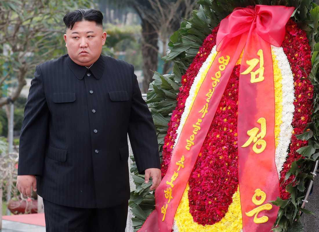 Kim Jong-Un i Vietnam efter det misslyckade mötet med Donald Trump tidigare i år.