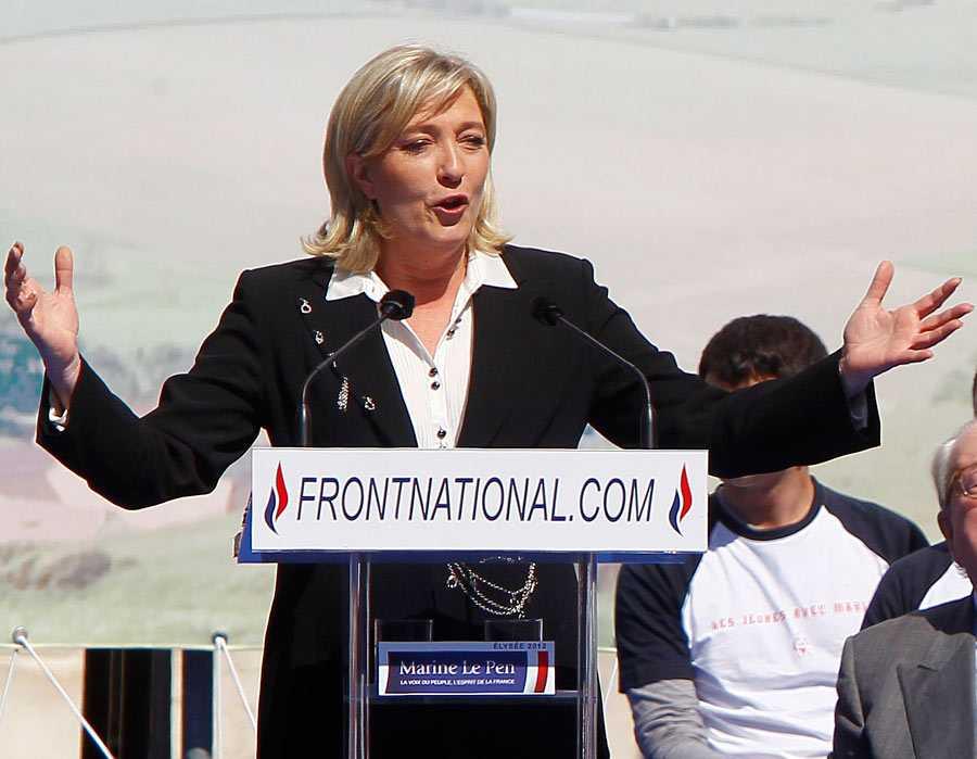 Le Pen kandiderade till presidentposten med sitt parti.