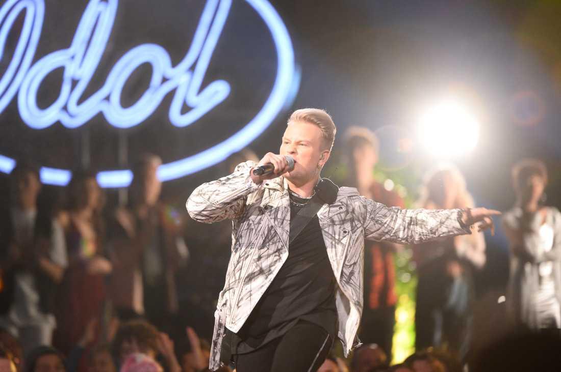 "Freddie Liljegren i ""Idol""-finalen."