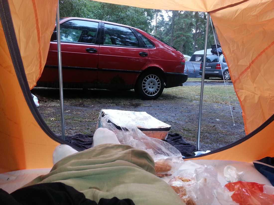 Rättvik och frukost på sängen i tältet