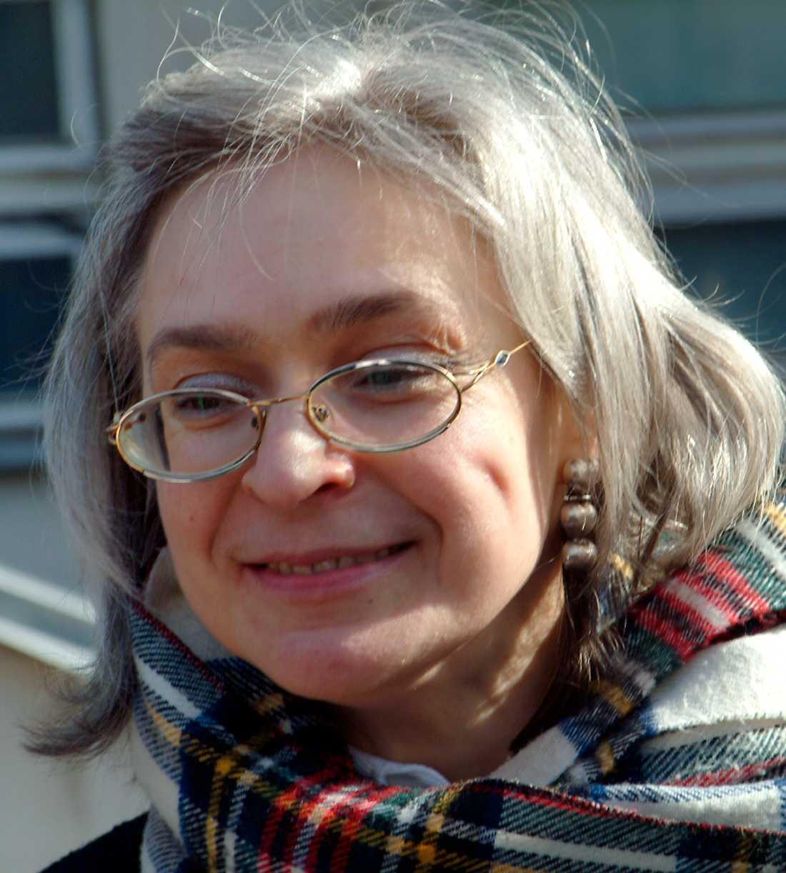Anna Politkovskaja sköts till döds utanför sitt hem den 7 oktober 2006.