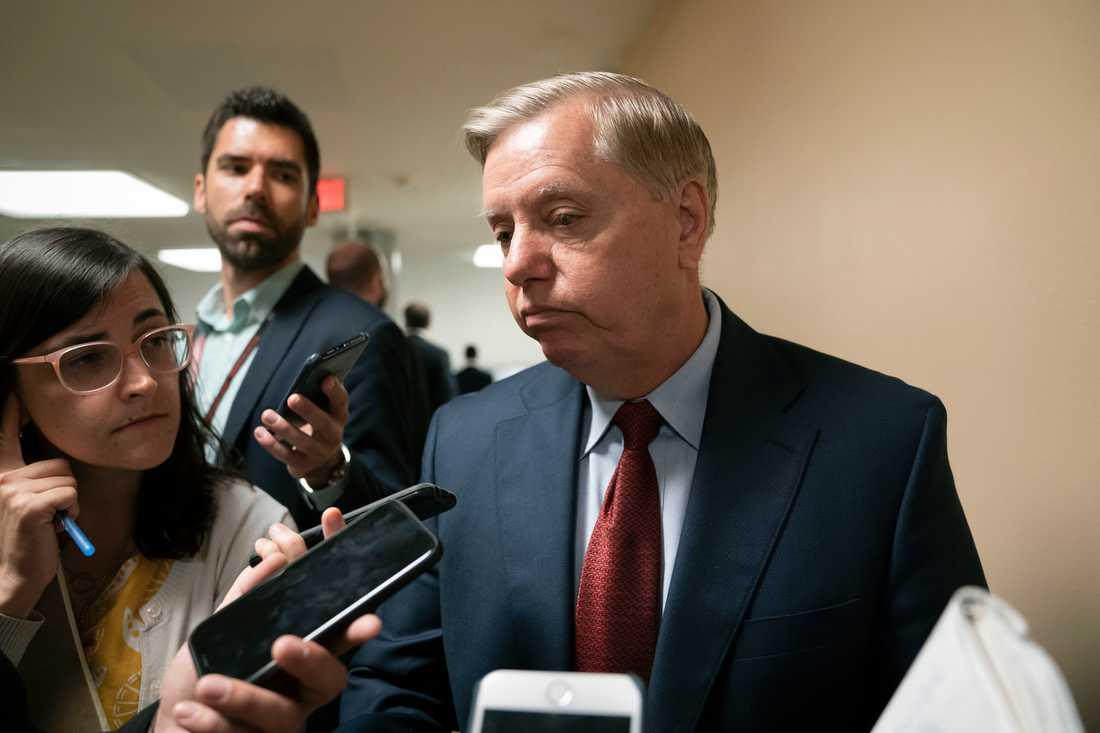 Lindsey Graham är ordförande i den amerikanska senatens justitieutskott. Arkivbild.