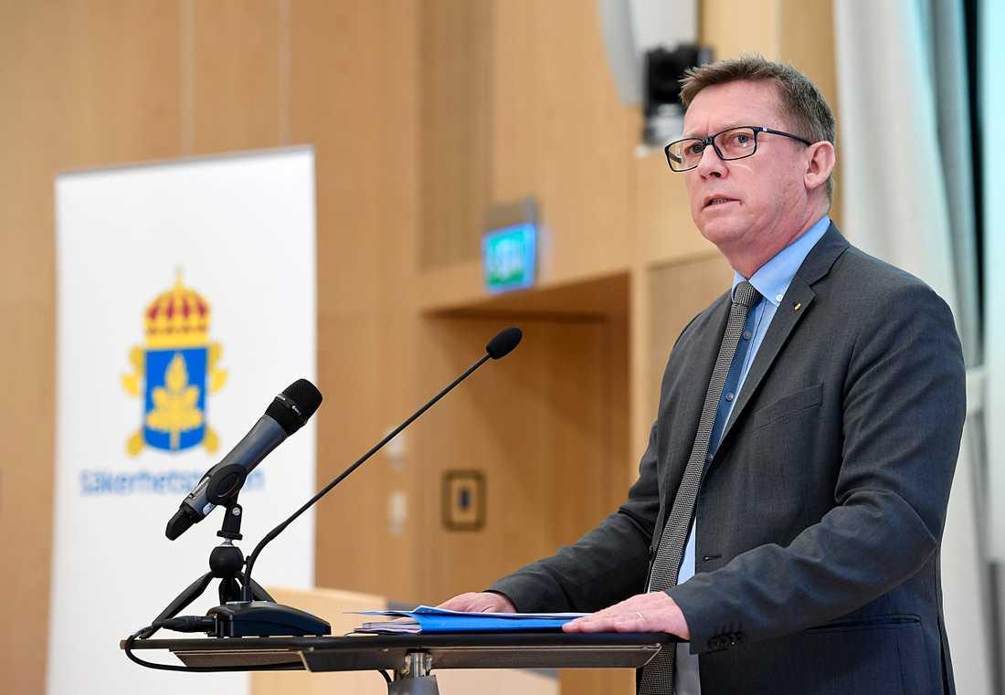 Säpo-chefen Klas Friberg.