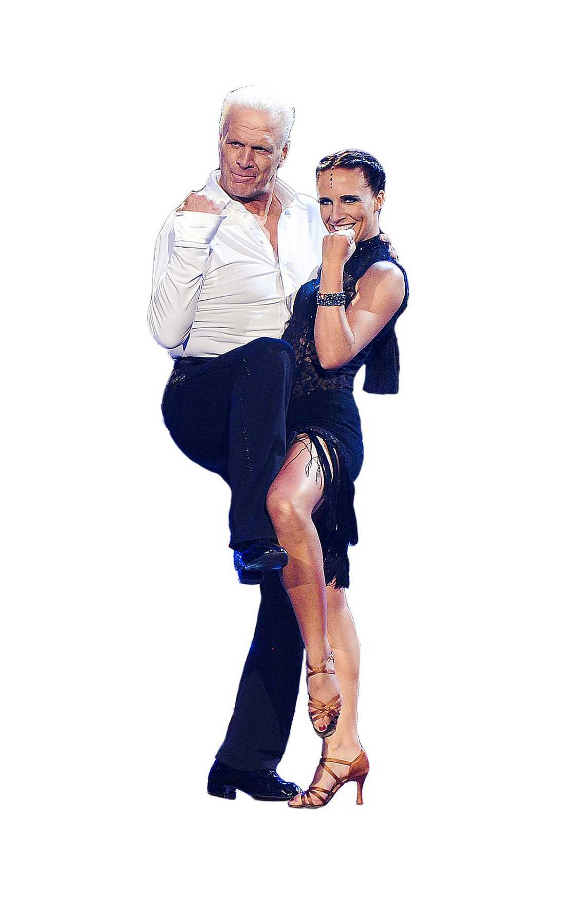 """Med danspartnern Charlotte Sinclair i """"Let's dance""""."""
