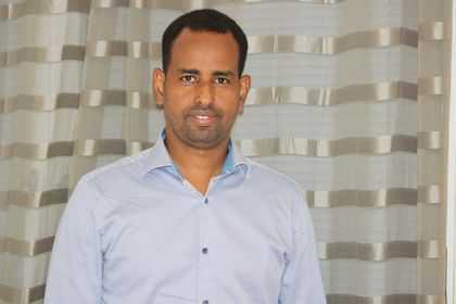 Abdullahi Sheikh Ali, ordförande för Umis, en somalisk förening i Tjärna Ängar.