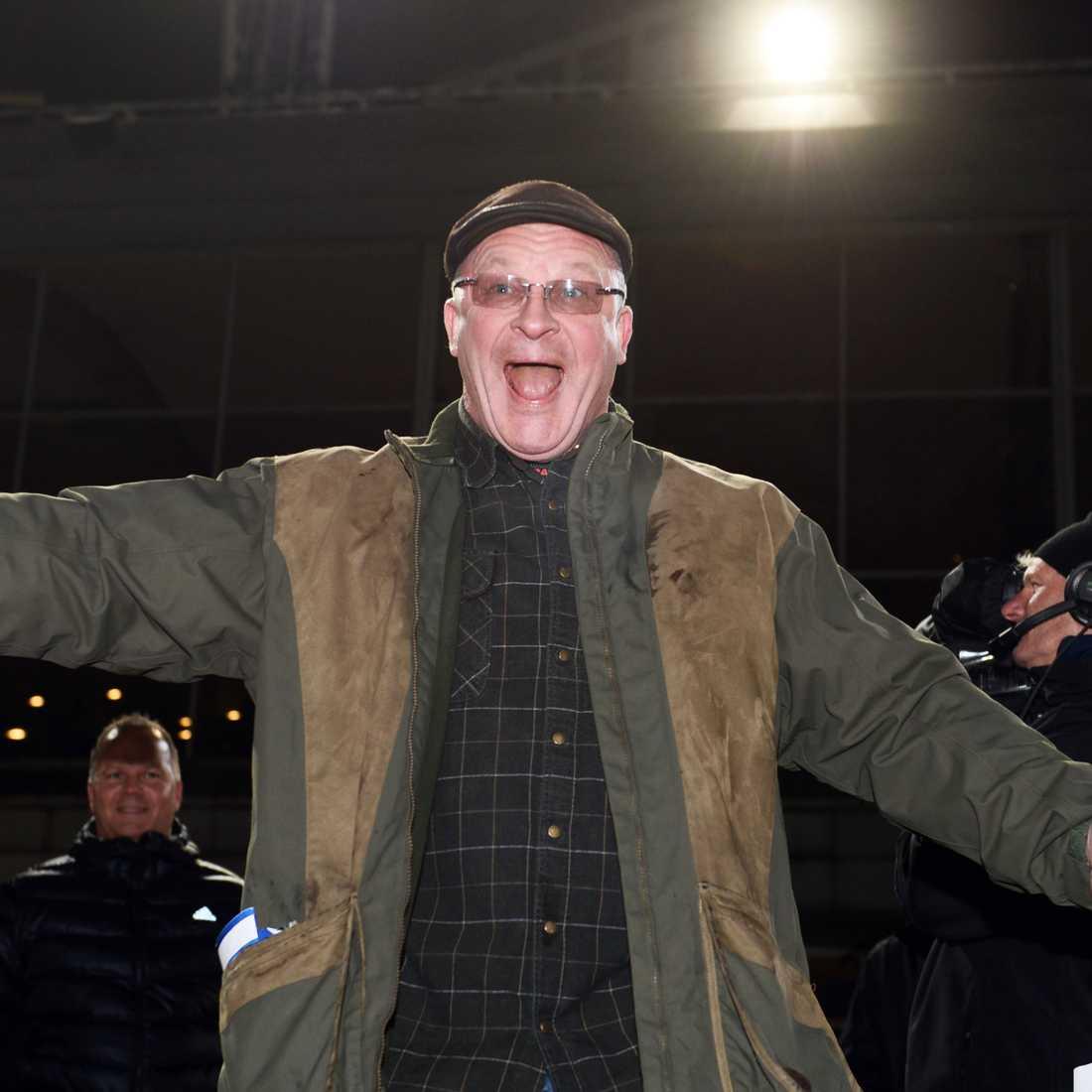 Tony Löfqvist har blivit känd för sitt högljudda vrål.