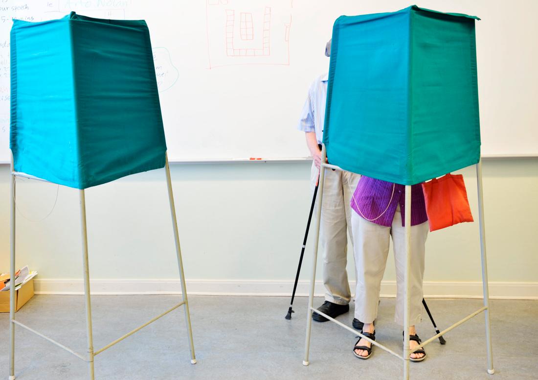 De flesta vallokalerna är öppna fram till klockan 20.