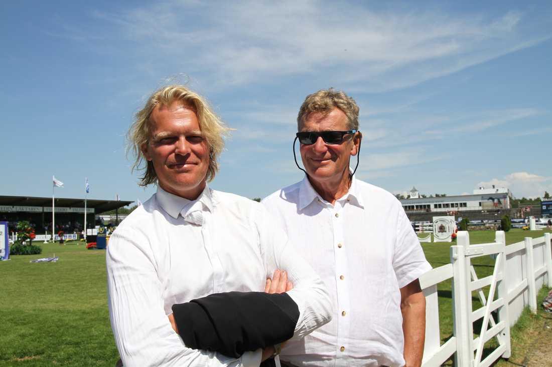 Son och far Jönsson – Fredrik och Jan. Nu gör den senare ryttarcomeback.