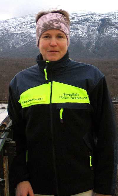 Annika Kristoffersson vid Abisko naturvetenskapliga station.