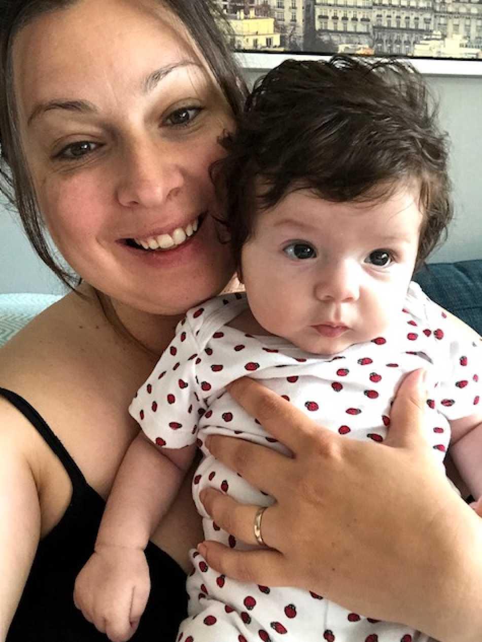 """Selma Foco från Borås: """"Min dotter Zara är blott tre månader gammal och har en rejäl 'tantfrisyr' som vi gärna kallar det. Hon föddes med en rejäl kalufs och den har bara fortsatt växa""""."""
