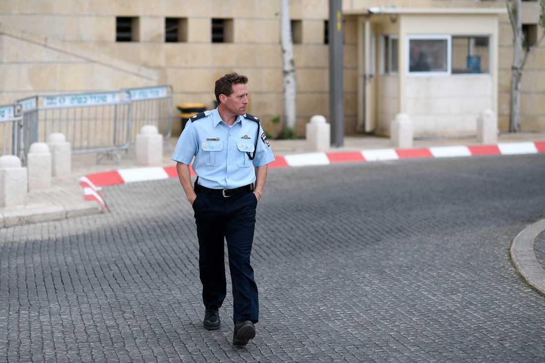 Micky Rose, talesman för den israeliska polisen.