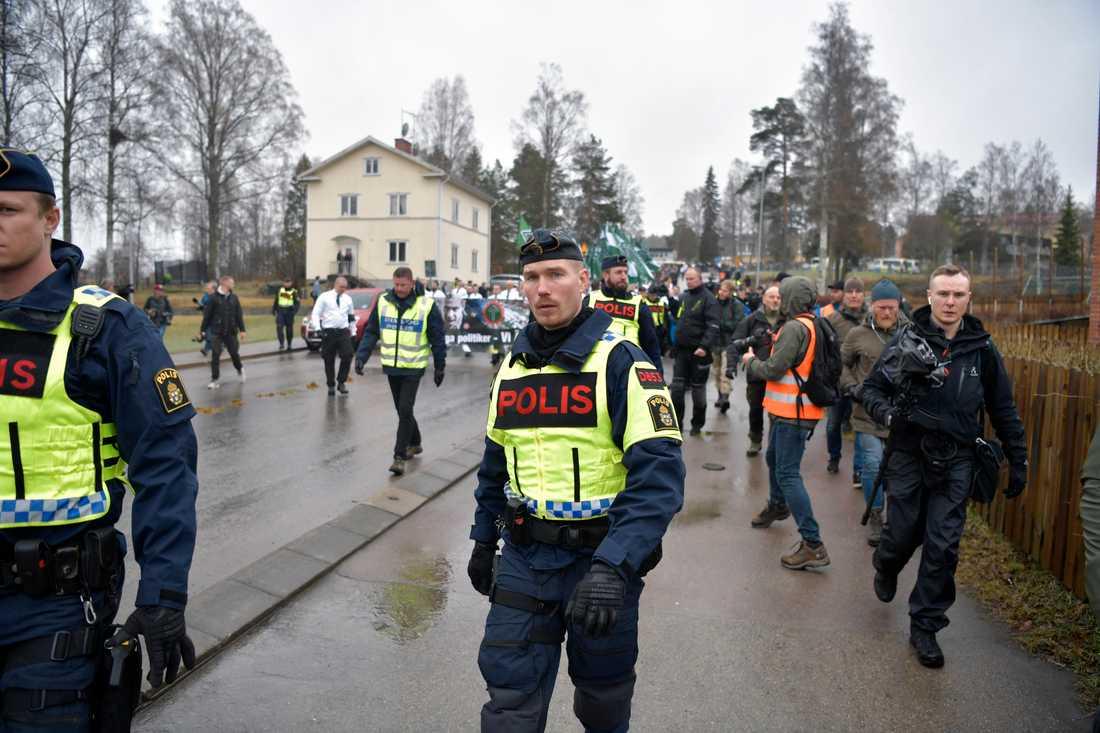 Demonstrationen i Ludvika.