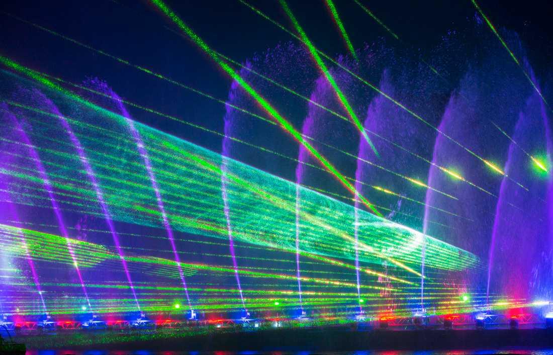 "En hejdundrande lasershow kallad ""Aquanario"", i Berlin 2013. Arkivbild."