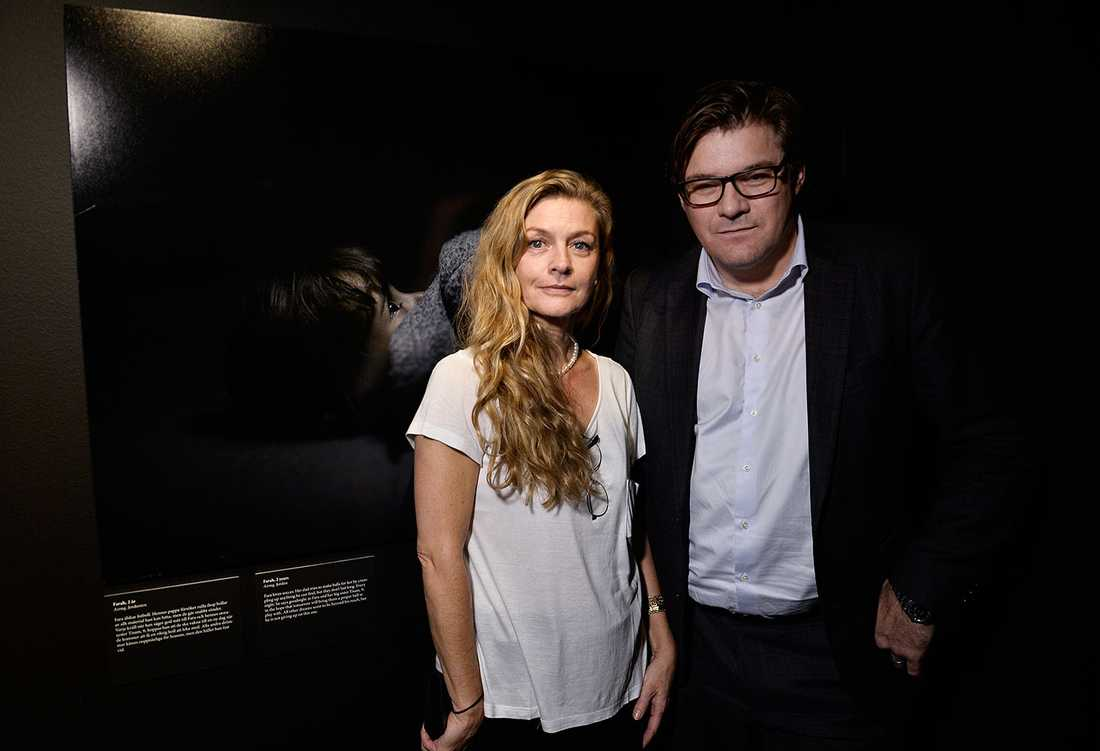 Margita Ingwall, marknadsansvarig på Fotografiska, tillsammans med Aftonbladets publisher Jan Helin.