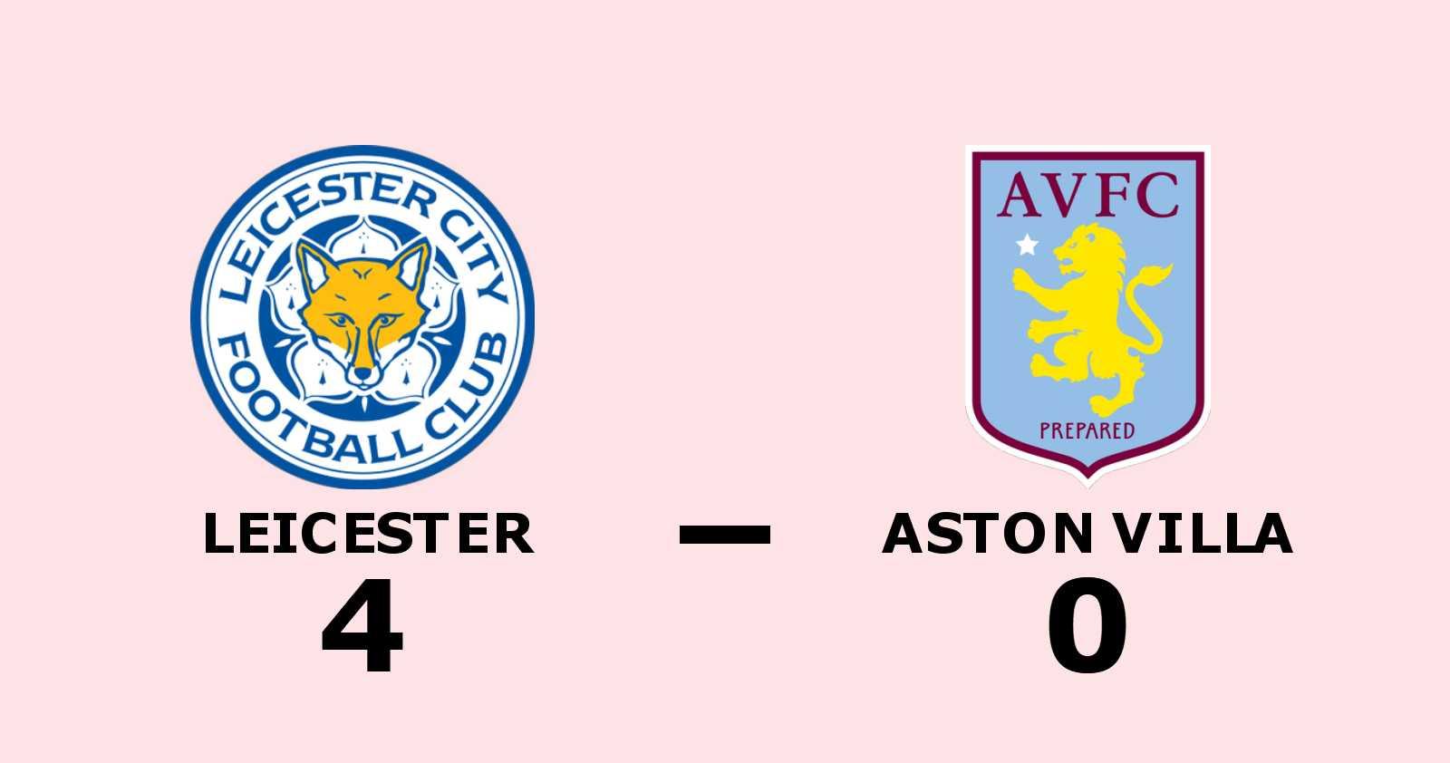 Klar seger för Leicester mot Aston Villa
