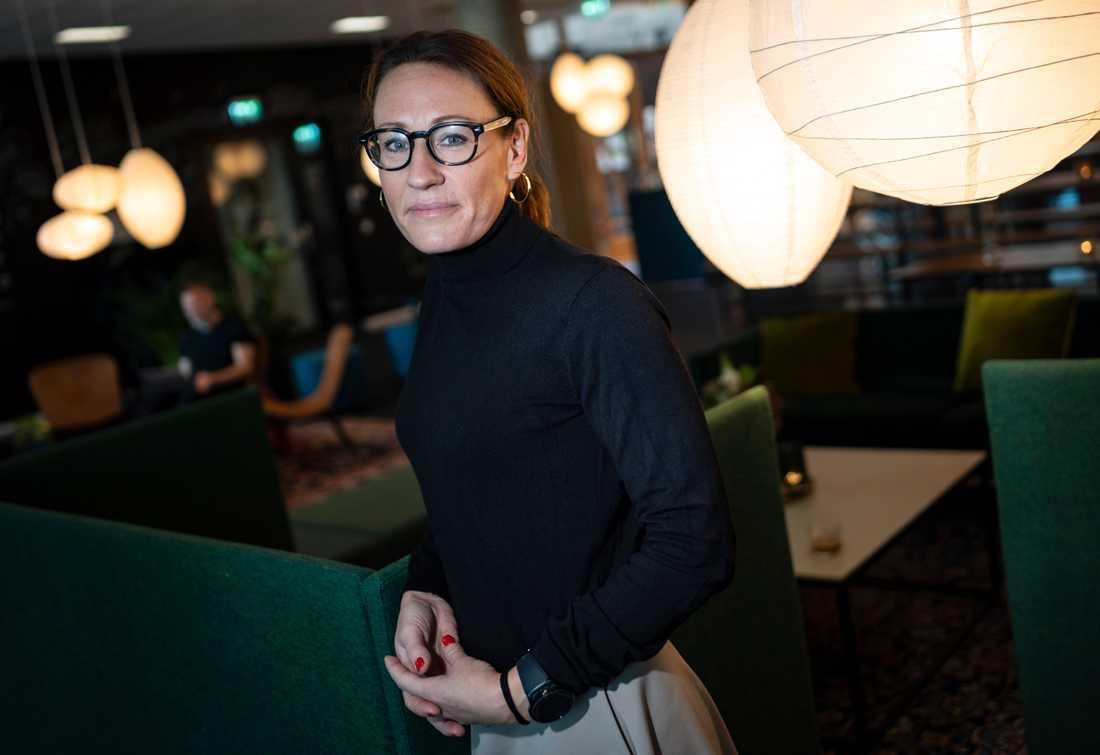 Nicolina Fransson, vd techbolaget OmMej AB, intervjuad i samband med Nordic Female Investor Meetup på Studio i Malmö.
