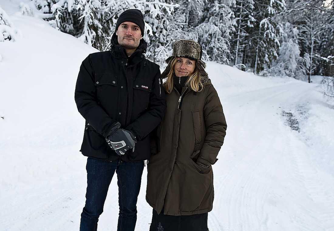 Aftonbladets Anders Munck och Lotte Fernvall.
