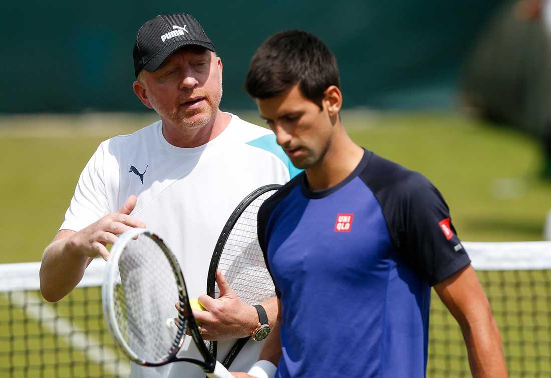 Novak Djokovic tränas av tyske Boris Becker.