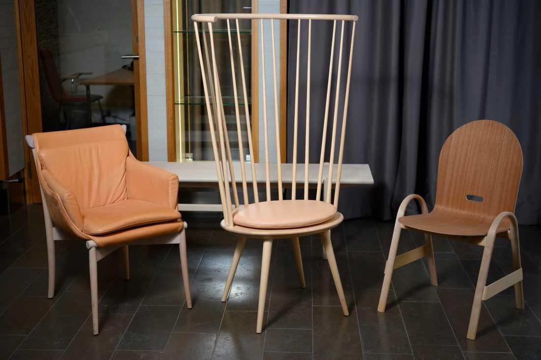 Svenskdesignade trämöbler är i fokus på utställningen Inside Swedish Design under Stockholms designvecka.