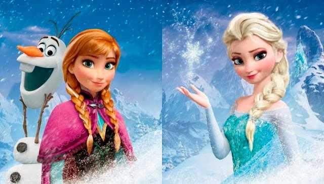 Anna och Elsa i Frost.