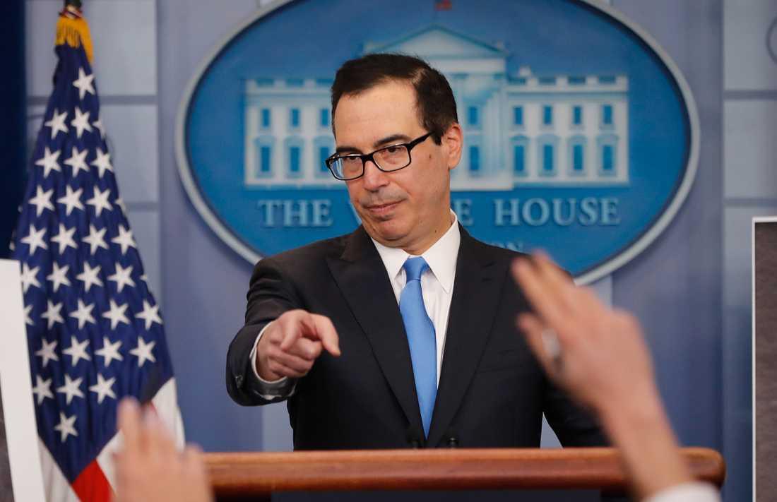 USA riktar nya sanktioner mot Ryssland, meddelar finansministern Steven Mnuchin. Arkivbild.