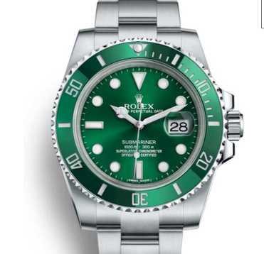 """Armbandsuret som den misstänkte klockrånaren kommit över är en Rolex Submariner med grön urtavla, känd som """"Hulken"""", värd uppemot 120 000 kronor."""