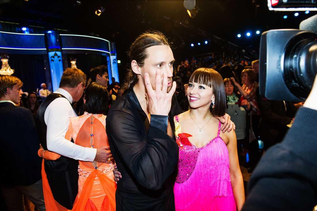 """Oksana Spichak deltog bland annat i """"Let's dance"""" 2013, här tillsammans med Robert Andersson."""
