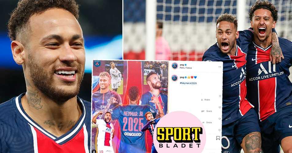 Neymar förlänger med PSG