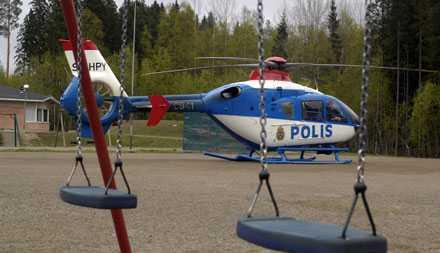 Polisen satte in en helikopter i sökandet efter åttaårige Elias.