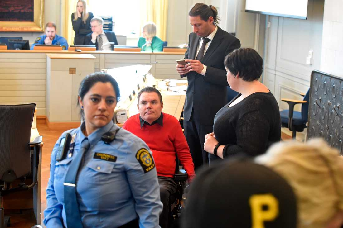 Andreas Thörn under rättegången.