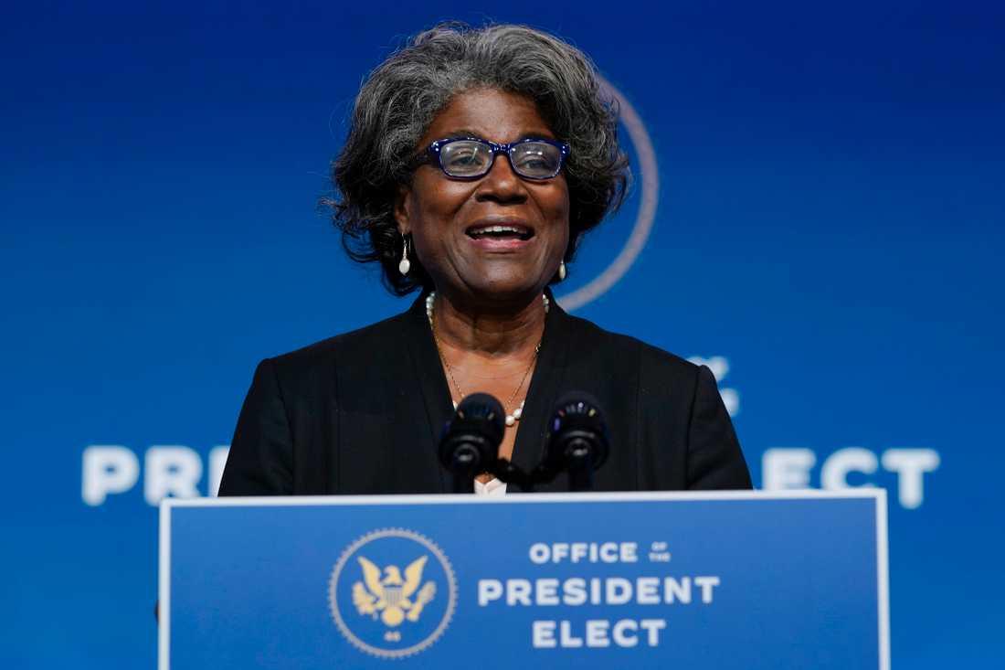 USA:s tilltänkta FN-ambssadör Linda Thomas-Greenfield. Arkivbild.