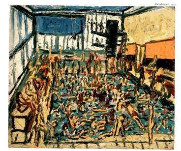 """Leon Kossoff: """"Barnbassängen, höst"""". (1972)"""