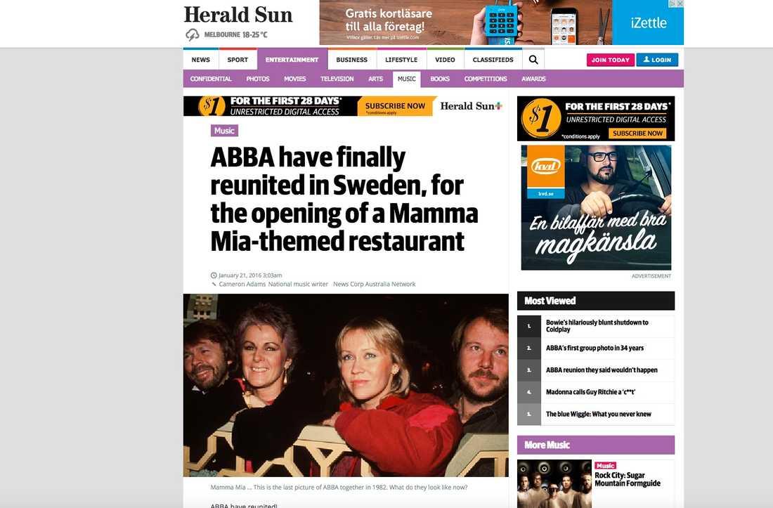 Australiska Herald Sun.