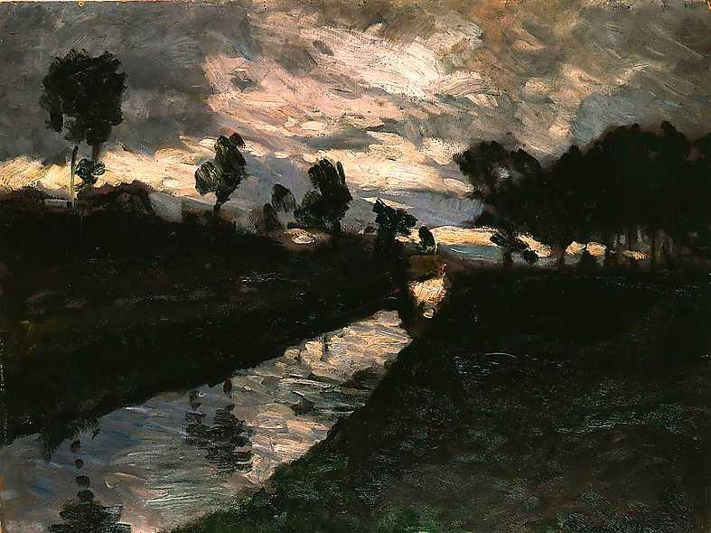 Otto Modersohn, Afton vid Moorkanal, 1894.