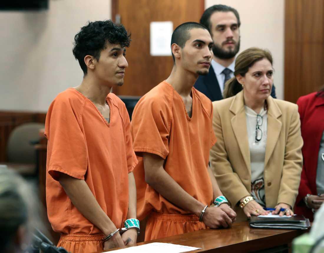De två misstänkta männen, 18 och 22 år.