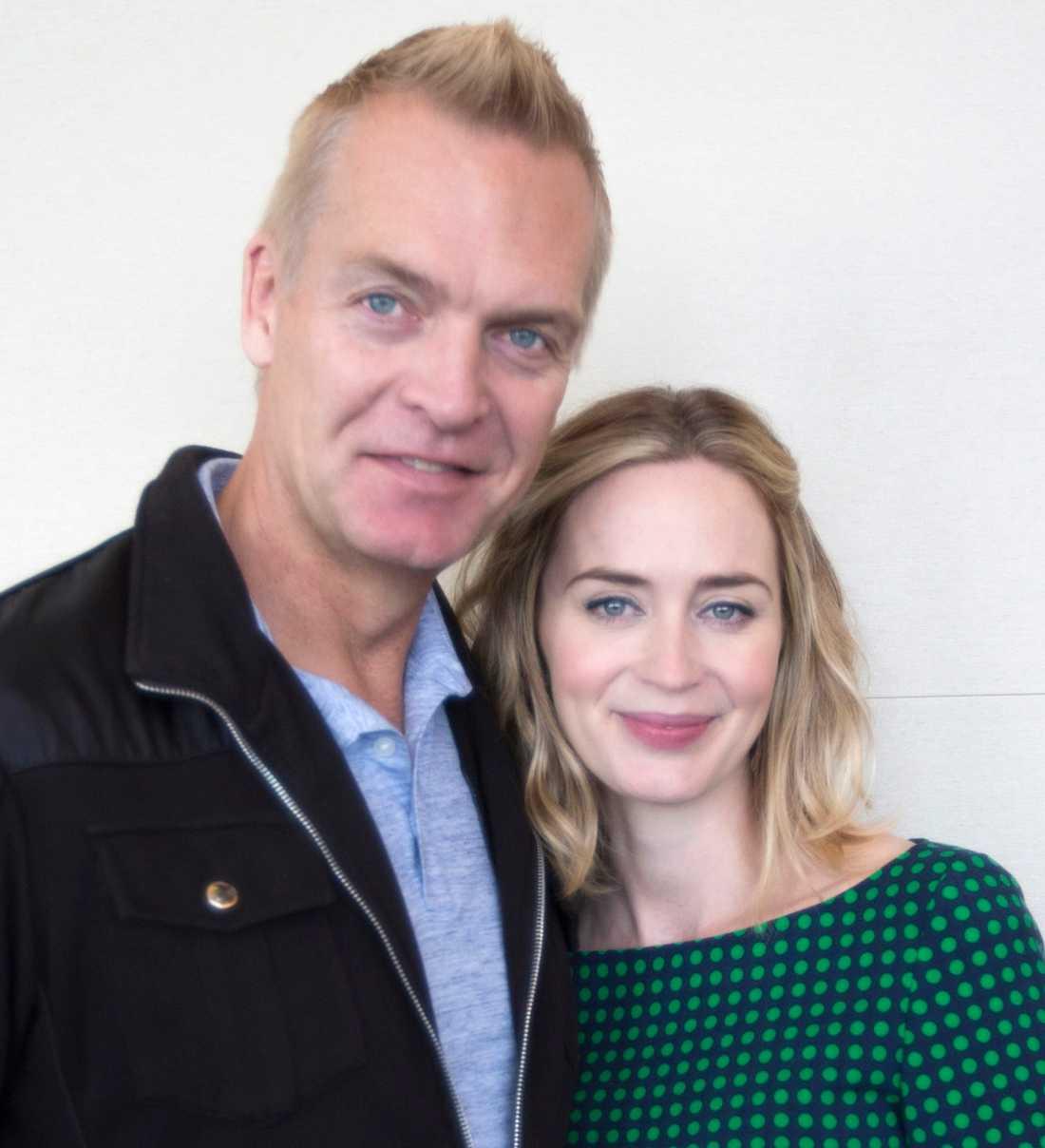 Emily Blunt med Nöjesbladets Magnus Sundholm.