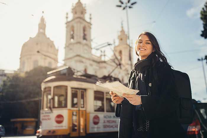 Härligt fri och lycklig i Lissabon.
