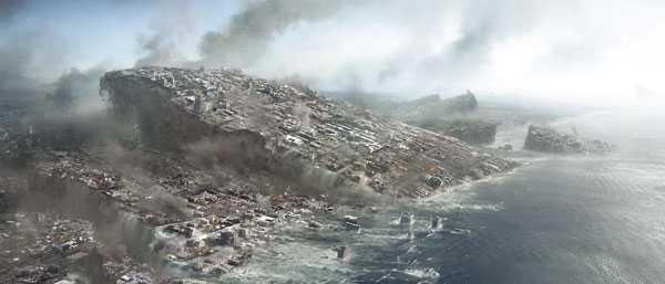"""Om vi människor inte upptäcker ett riktigt hot mot vår överlevnad, så hittar vi på egna. Skogsdöden, sars, flodvågor, den globala uppvärmningen, jordbävningar, eller som i filmen """"2012"""" ovan: allt på en gång."""