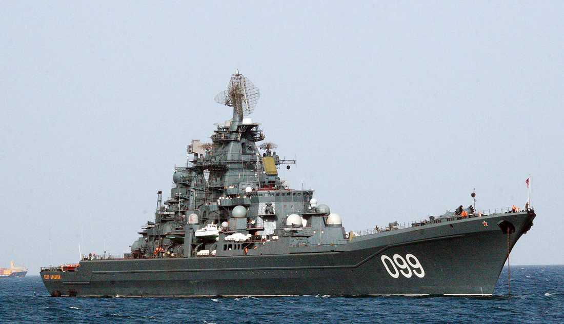 Slagskeppet Pyotr Veliky.