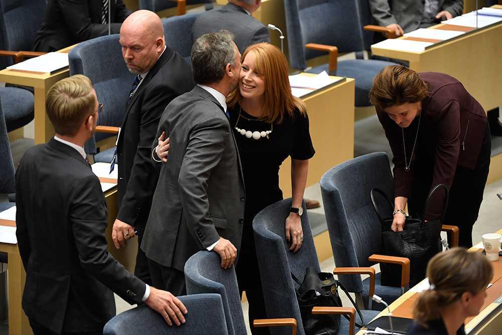 Annie Lööf i riksdagen.