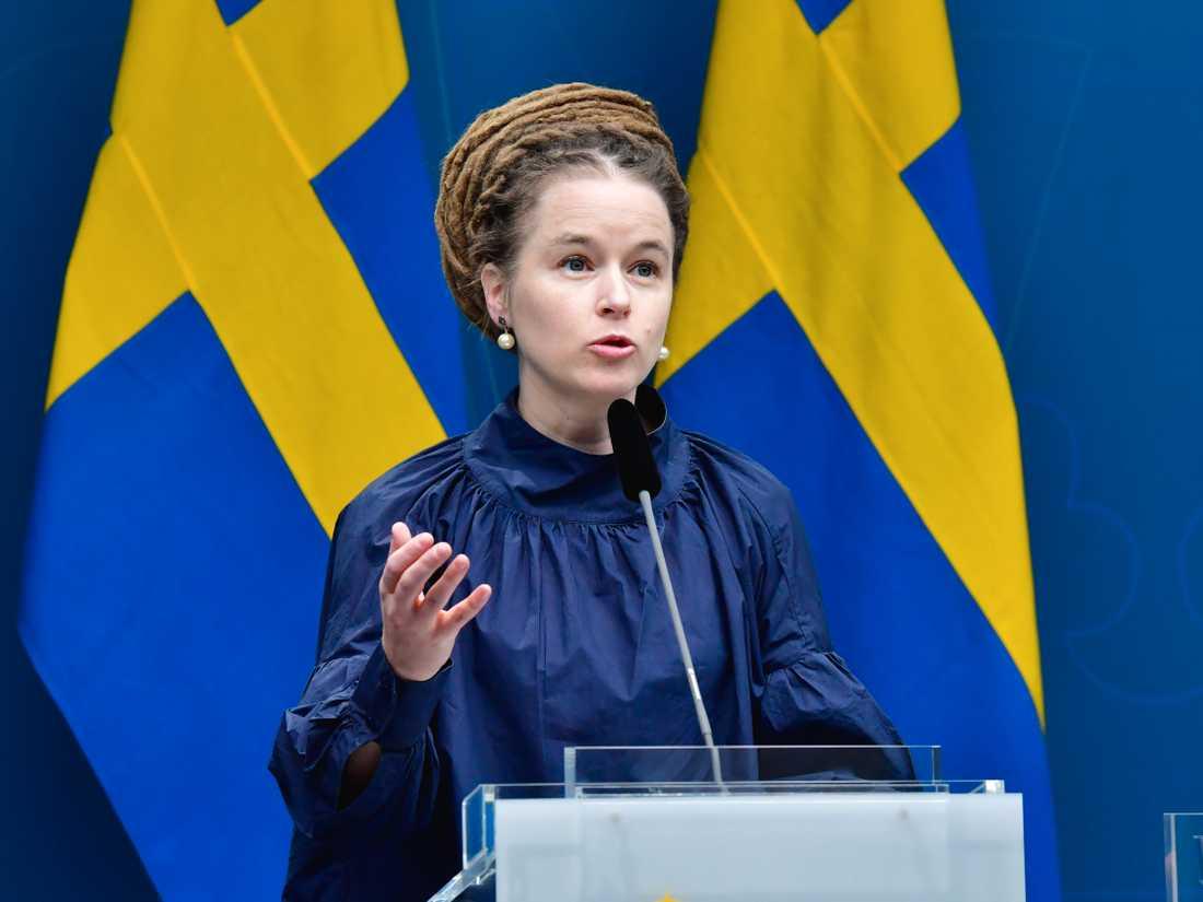 Kultur- och idrottsminister Amanda Lind (MP). Arkivbild.