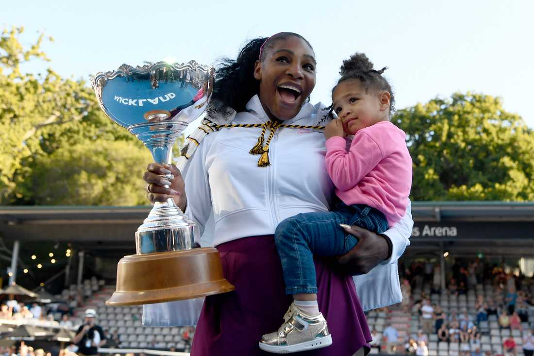 Serena Williams med dottern Alexis Olympia.
