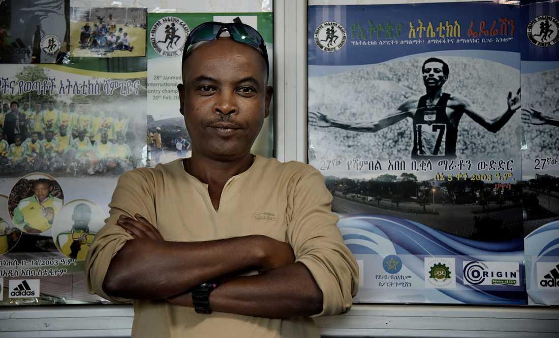 Sileshi Bisrat, kommunikatör på förbundet Ethiopian Athletics Federation i centrala Addis Abeba.