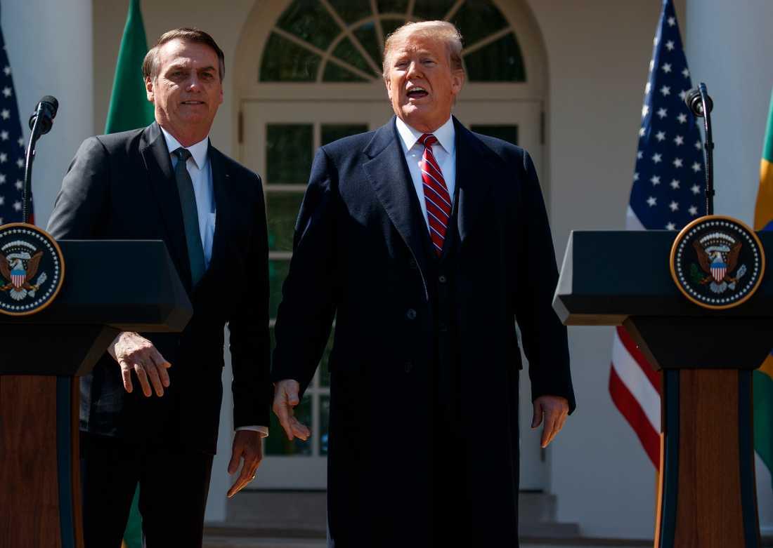 Donald Trump och Brasiliens president Jair Bolsonaro hanterar coronakrisen som förväntat: de fokuserar främst på sig själva, skriver Lotta Ilona Häyrynen.