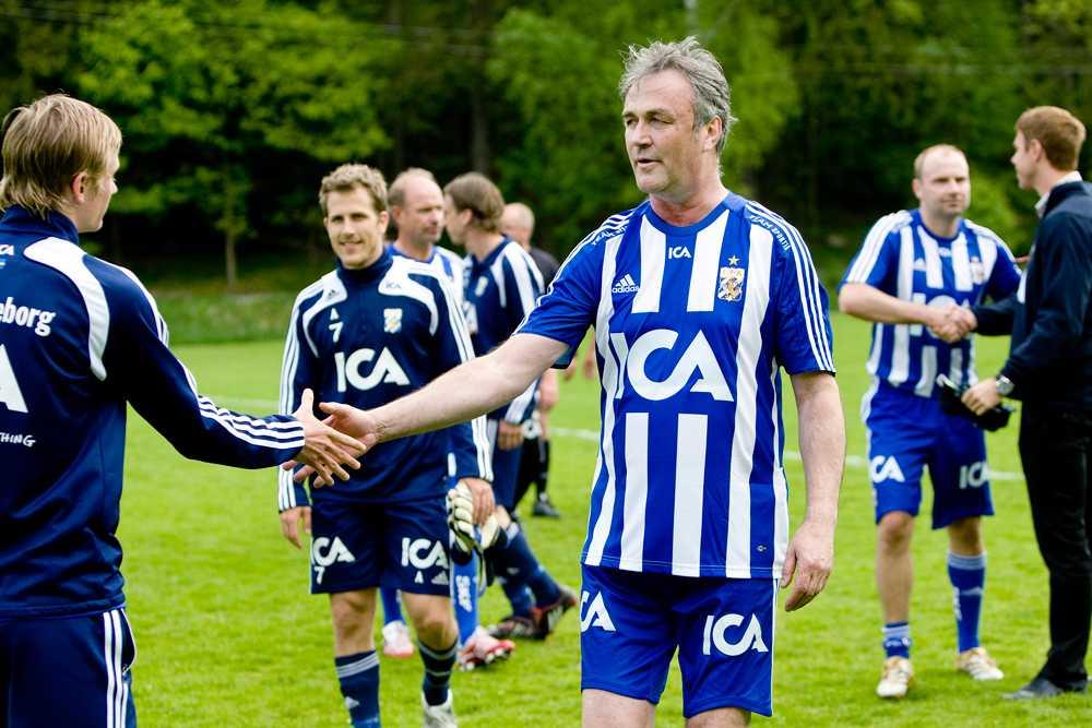 Ralf Edström spelade en välgörenhetsmatch med IFK Göteborg 2008.