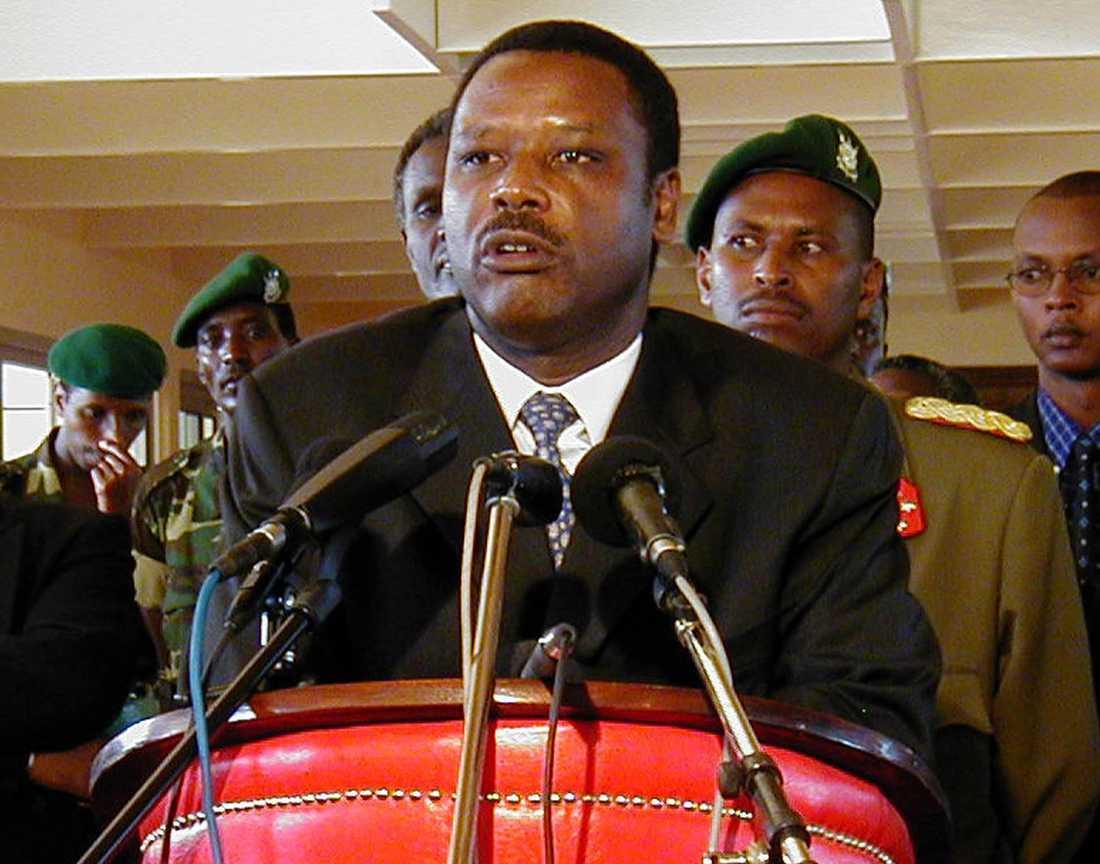 Burundis före detta president Pierre Buyoya döms till livstids fängelse i sin frånvaro. Arkivbild.